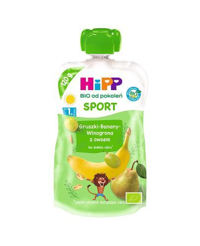 HIPP Hippis Sport Mus Gruszki-Banany-Winogrona z owsem - 120 g Data ważności: 2019.07.31 - Apteka internetowa Melissa