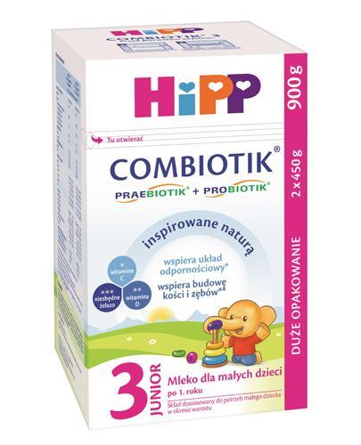 HIPP JUNIOR COMBIOTIK 3 Mleko dla małych dzieci po 1. roku życia - 900 g