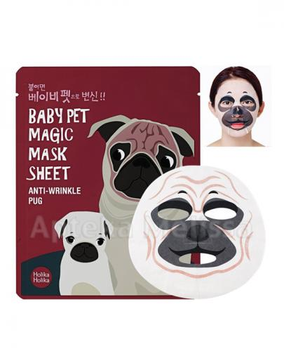 HOLIKA HOLIKA Baby Pet Magic Mask Sheet Pug maseczka na bawełniane płachcie - 1 szt.