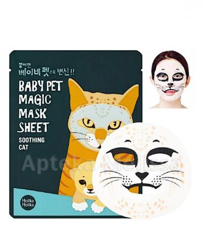 HOLIKA HOLIKA Baby Pet Magic Mask Sheet Soothing Cat maseczka na bawełniane płachcie - 1 szt. - Drogeria Melissa