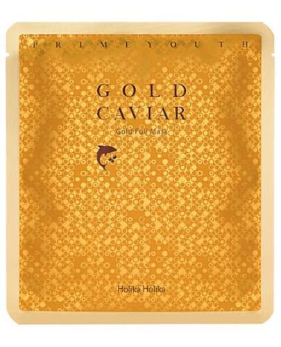 Holika Holika Prime Youth Gold Caviar Gold Maseczka pielęgnująca do twarzy - 25 g - cena, opinie, właściwości - Drogeria Melissa