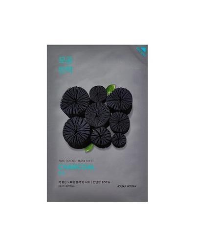 HOLIKA HOLIKA Pure Essence Mask Sheet CHARCOAL maseczka na bawełnianej płachcie - 1 szt. - redukcja trądziku - cena, właściwości, opinie