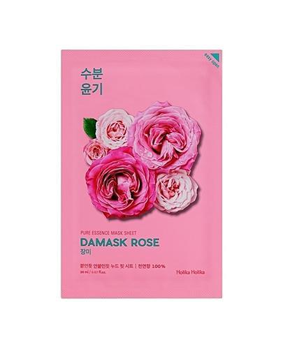 HOLIKA HOLIKA Pure Essence Mask Sheet DAMASK ROSE maseczka na bawełnianej płachcie - 1 szt. - anti-aging - cena, właściwości, opinie - Apteka internetowa Melissa