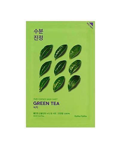 HOLIKA HOLIKA Pure Essence Mask Sheet GREEN TEA maseczka na bawełnianej płachcie - 1 szt. - działa antybakteryjne i tonizuje - cena, właściwości, opinie