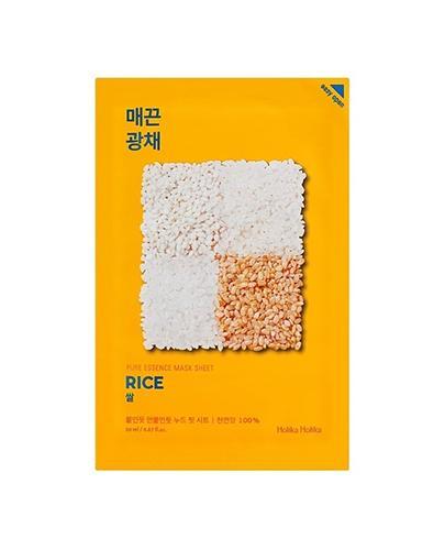 HOLIKA HOLIKA Pure Essence Mask Sheet RICE maseczka na bawełnianej płachcie - 1 szt. - odżywienie i rozjaśnienie - cena, właściwości, opinie