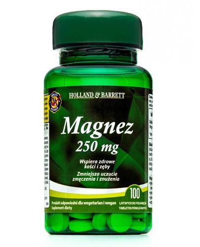 HOLLAND&BARRETT Magnez 250 mg - 100 tabl. - Apteka internetowa Melissa