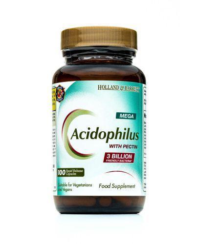HOLLAND&BARRETT Mega acidophilus z pektyną - 100 kaps. - Apteka internetowa Melissa