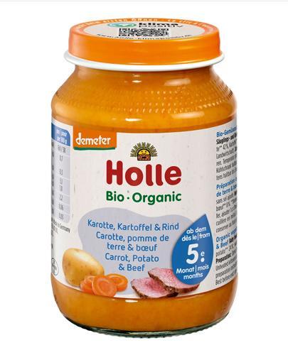HOLLE Marchew, ziemniaki i wołowina - 190 g - Apteka internetowa Melissa
