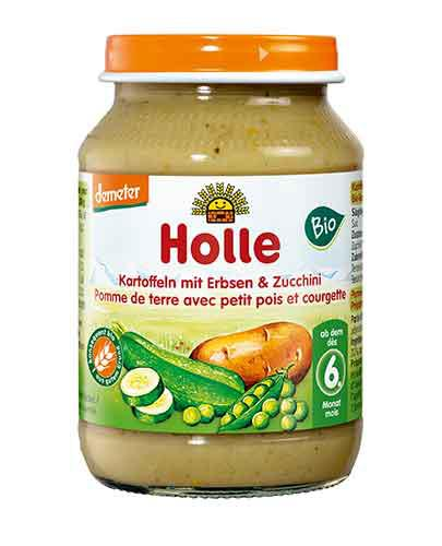 HOLLE Ziemniaki z groszkiem i cukinią - 190 g - Apteka internetowa Melissa