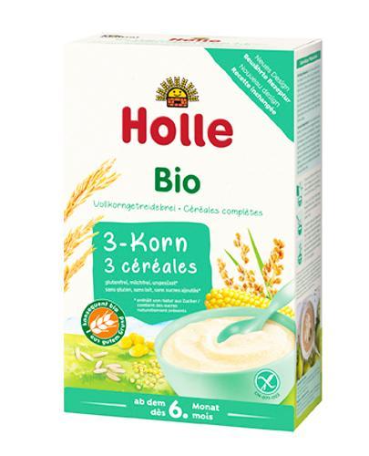 HOLLE Kaszka 3-zboża pełnoziarnista BIO po 6. miesiącu - 250 g Kaszka bezglutenowa - cena, opinie, stosowanie - Apteka internetowa Melissa