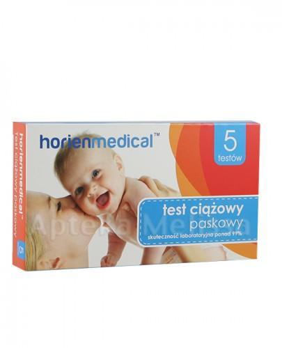 d249e0ce7d32b8 HORIENMEDICAL Paskowy test ciążowy - 5 szt. => Apteka-Melissa.pl