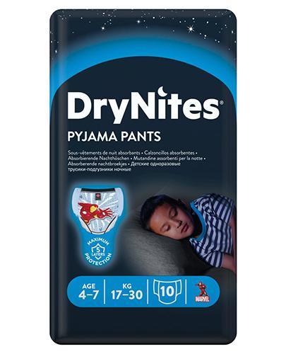 HUGGIES DRYNITES Pieluchomajtki dla chłopca 4-7 lat  17-30 kg - 10 szt.