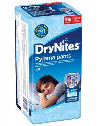 HUGGIES DRYNITES Pieluchomajtki dla chłopca 8-15 lat 27-57 kg - 9 szt.
