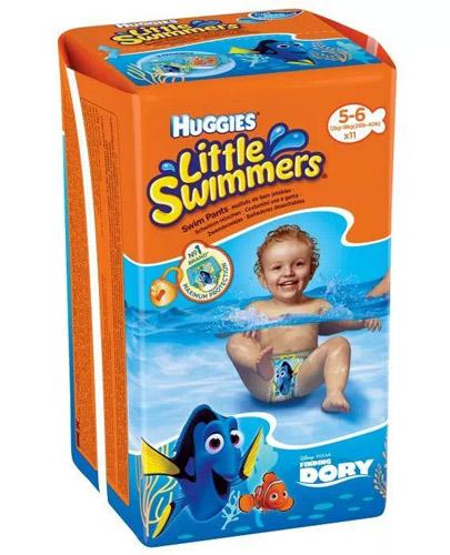 HUGGIES LITTLE SWIMMERS Pieluchomajtki dla chłopca Rozmiar 5-6, 12-18 kg - 11 szt.