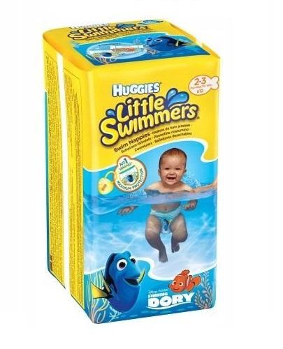 HUGGIES LITTLE SWIMMERS Pieluchomajtki dla chłopca Rozmiar 2-3, 3-8 kg - 12 szt.