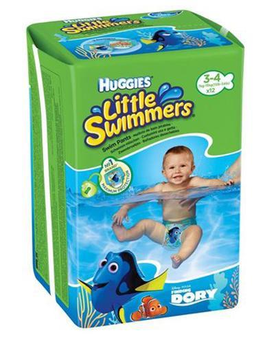 HUGGIES LITTLE SWIMMERS Pieluchomajtki dla chłopca Rozmiar 3-4, 7-15 kg - 12 szt.