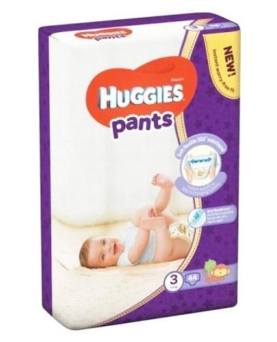 HUGGIES PANTS 3 Pieluchomajtki 6-11 kg - 44 szt