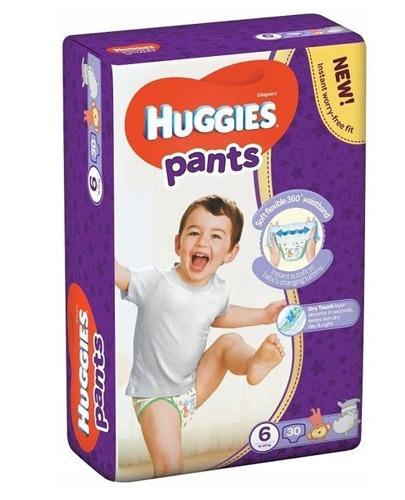 HUGGIES PANTS 6 Pieluchomajtki 15-25 kg - 30 szt