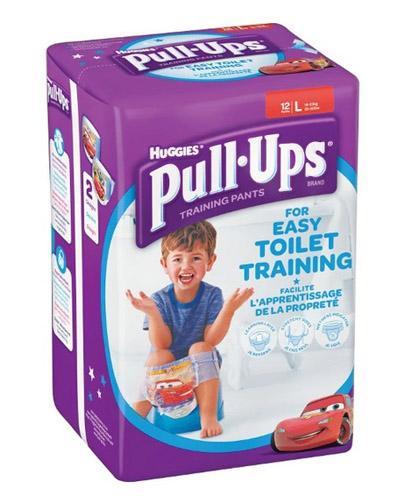 HUGGIES PULL-UPS Pieluchomajtki dla chłopca rozmiar L 16-23 kg - 12 szt.