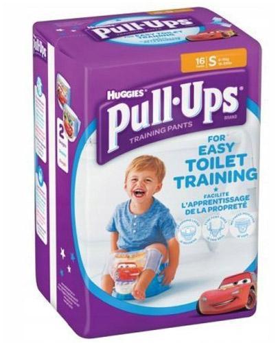 HUGGIES PULL-UPS Pieluchomajtki dla chłopca rozmiar S 8-15 kg - 16 szt.