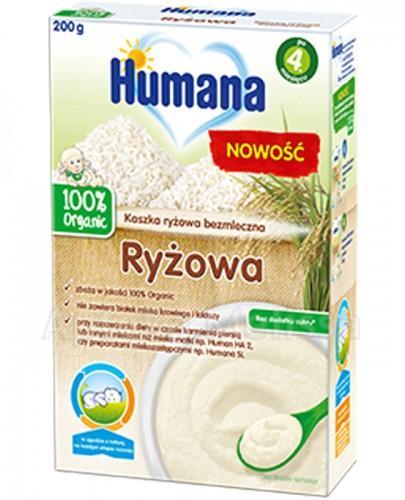 HUMANA 100% ORGANIC Kaszka bezmleczna ryżowa po 4 m-cu - 200  g - Apteka internetowa Melissa