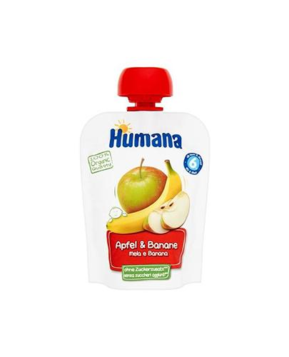 HUMANA 100% ORGANIC Mus Jabłko-Banan  po 6 miesiącu - 90 g - Apteka internetowa Melissa