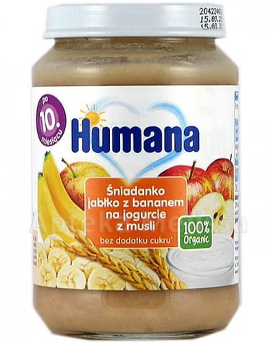 HUMANA 100% ORGANIC Śniadanko jabłko z bananem na jogurcie z musli - 190 g - Apteka internetowa Melissa
