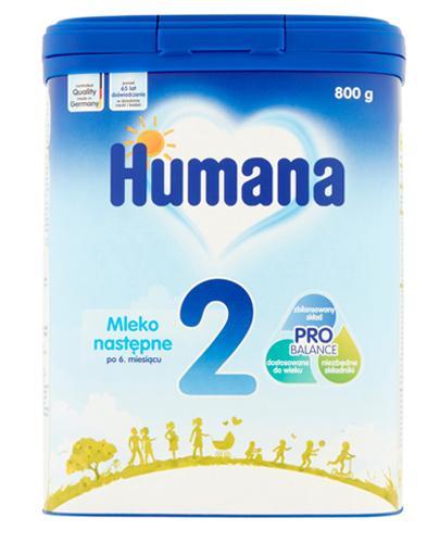 HUMANA 2 Mleko modyfikowane w proszku następne dla niemowląt - 800 g - Apteka internetowa Melissa