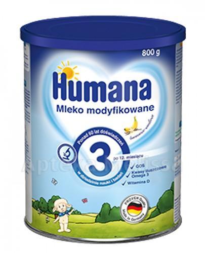 HUMANA 3 Mleko modyfikowane w proszku bananowo-waniliowe - 800 g  - Apteka internetowa Melissa