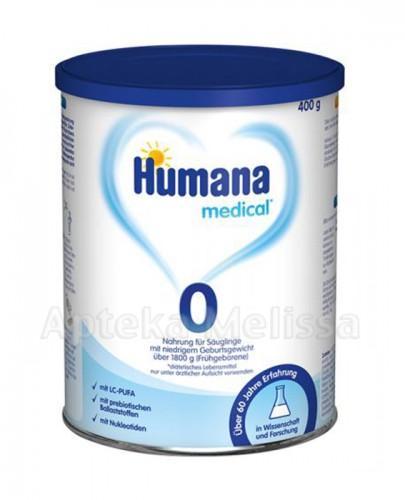 HUMANA 0 Mleko dla wcześniaków - 400 g - Apteka internetowa Melissa