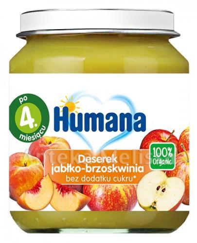 HUMANA 100% ORGANIC Deserek jabłko-brzoskwinia - 125 g - Apteka internetowa Melissa