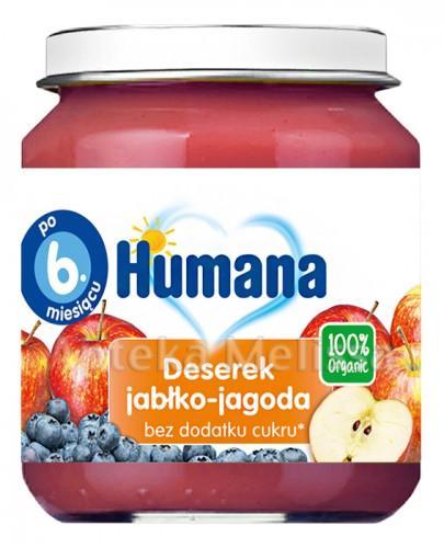 HUMANA 100% ORGANIC Deserek jabłko-jagoda - 125g  - Apteka internetowa Melissa