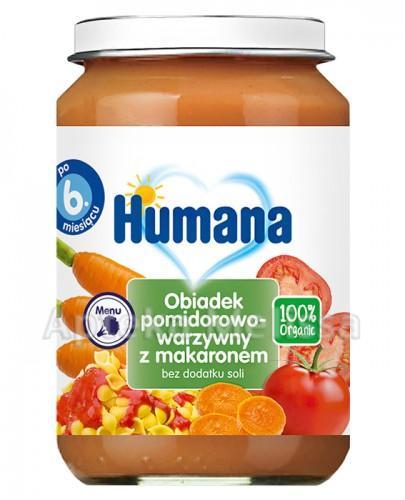 HUMANA 100% ORGANIC pomidorowo-warzywny z makaronem - 190 g - Apteka internetowa Melissa