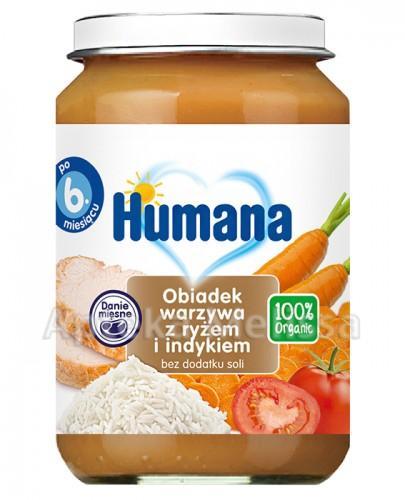 Humana 52 100% Org.Obiadek warz/ryż/indyk