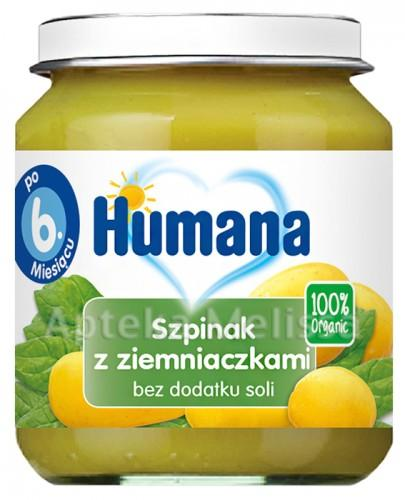 HUMANA 100% ORGANIC Szpinak z ziemniaczkami - 125 g - Apteka internetowa Melissa