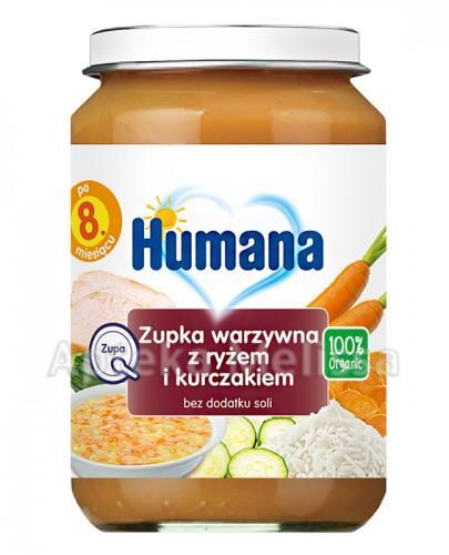 HUMANA 100% ORGANIC Zupka warzywna z ryżem i kurczakiem - 190 g Data ważności: 2018.07.27 - Apteka internetowa Melissa