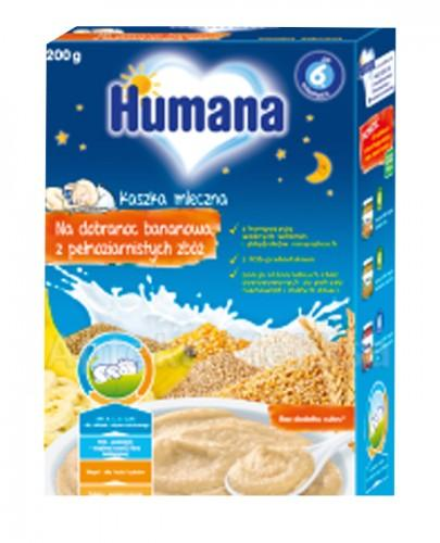 HUMANA Kaszka na dobranoc bananowa z pełnoziarnistych zbóż - 200 g  - Apteka internetowa Melissa