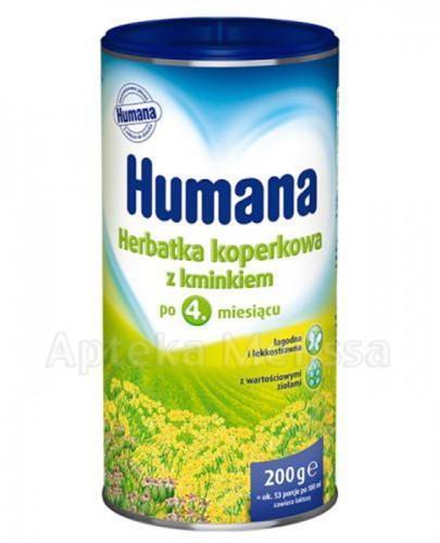 HUMANA Herbatka koperkowa z kminkiem po 4 miesiącu życia - 200 g - Apteka internetowa Melissa