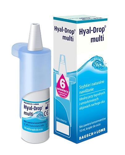 HYAL-DROP MULTI - krople nawilżające - 10 ml - cena, opinie, stosowanie - Drogeria Melissa
