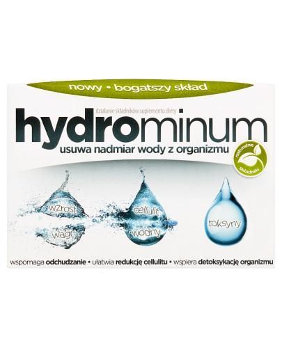 HYDROMINUM - 30 tabl. Na nadmiar wody w organizmie. - cena, opinie, wskazania - Drogeria Melissa