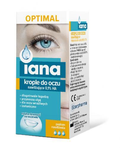 IANA OPTIMAL Nawilżające krople do oczu 0,1% HA - 10 ml