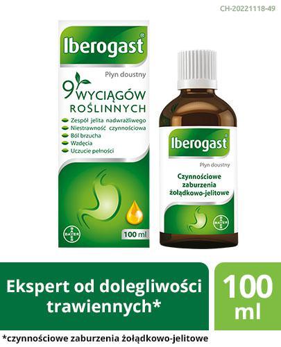 IBEROGAST - lek na czynnościowe dolegliwości trawienne - 100 ml - cena, opinie, wskazania