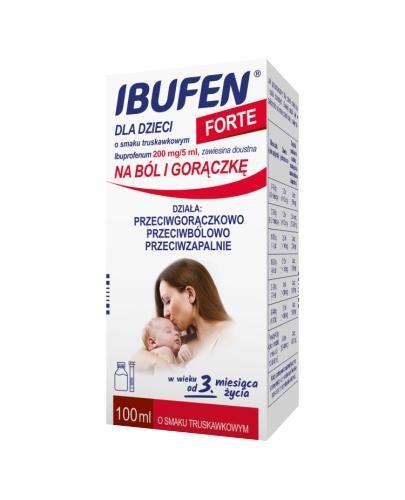 IBUFEN FORTE Syrop dla dzieci o smaku truskawkowym - 100 ml - Apteka internetowa Melissa