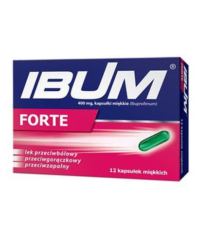 IBUM EXPRESS FORTE - 12 kaps. Lek przeciwbólowy i przeciwzapalny - cena, opinie, właściwości