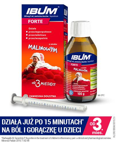 IBUM FORTE Zawiesina o smaku malinowym 200 mg / 5 ml - 100 ml - Apteka internetowa Melissa