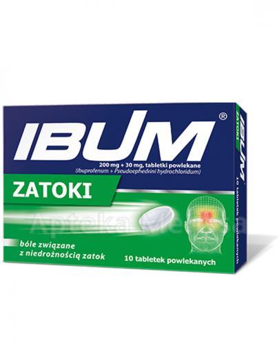 IBUM ZATOKI 200 mg + 30 mg - 10 tabl. - Apteka internetowa Melissa