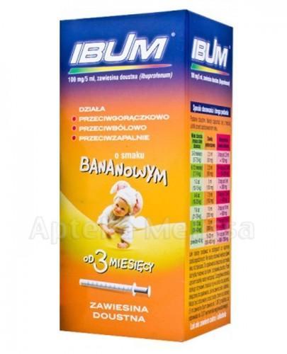 IBUM Zawiesina o smaku bananowym 100 mg / 5 ml - 130 ml  - Apteka internetowa Melissa