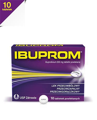 IBUPROM - 10 tabl. - lek przeciwbólowy i przeciwzapalny - cena, opinie, wskazania