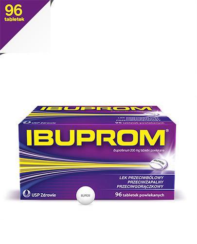IBUPROM - 96 tabl. - na stany zapalne - cena, opinie, stosowanie  - Apteka internetowa Melissa