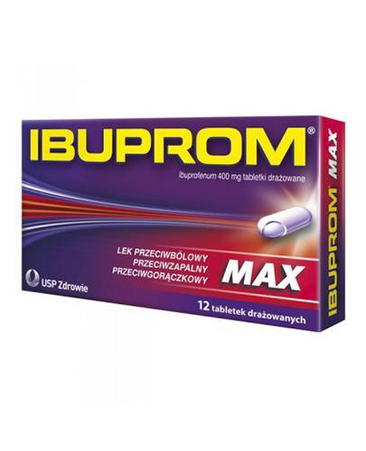 IBUPROM MAX - 12 tabl. - lek przeciwzapalny i przeciwbólowy - cena, opinie, wskazania